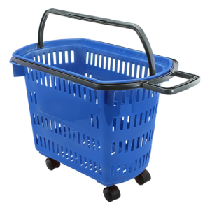 Cesto Supermercado/Conveniências 30 litros com alça plástica com e sem rodizios